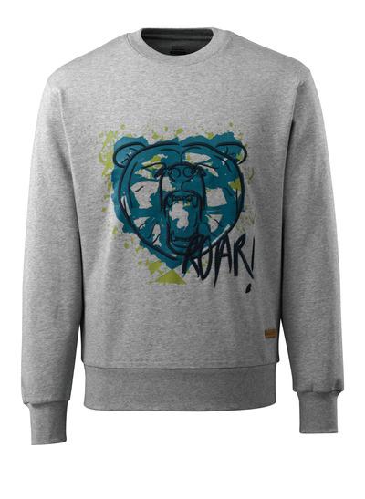 MASCOT® ADVANCED - grijs-melêe - Sweatshirt met beer, moderne pasvorm