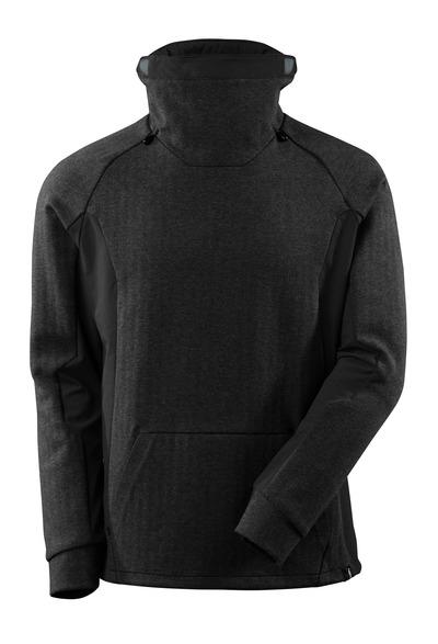 MASCOT® ADVANCED - zwart-melêe/zwart - Sweater met hoge verstelbare kraag, moderne pasvorm