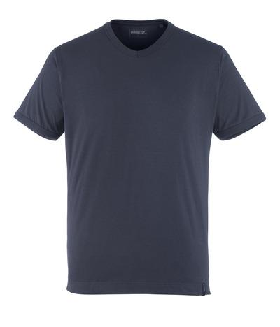 MASCOT® Algoso - donkermarine - T-shirt, kleine V-hals, moderne pasvorm