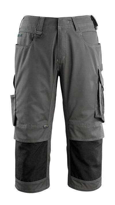 MASCOT® Altona - donkerantraciet/zwart - Driekwart werkbroek met CORDURA®-kniezakken, lichtgewicht
