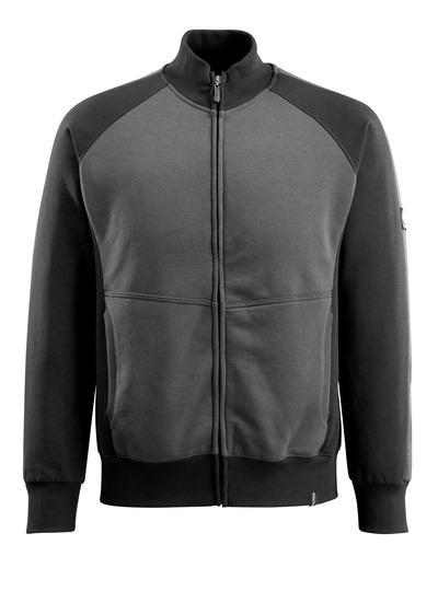 MASCOT® Amberg - donkerantraciet/zwart - Sweatshirt met ritssluiting