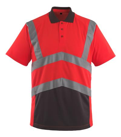 MASCOT® Anadia - hi-vis rood/donkerantraciet - Poloshirt, moderne pasvorm, klasse 2