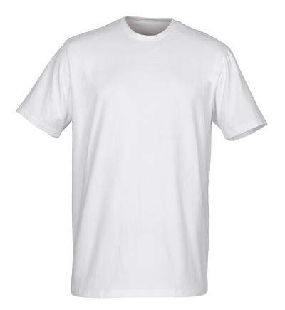 MASCOT® Argana - wit - Hemd met kleine V-hals en korte mouwen, moderne pasvorm