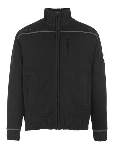 MASCOT® Arta - zwart - Gebreide trui met rits, moderne pasvorm
