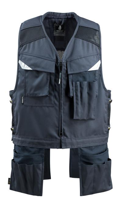 MASCOT® Baza - donkermarine - Gereedschapsvest met vier spijkerzakken