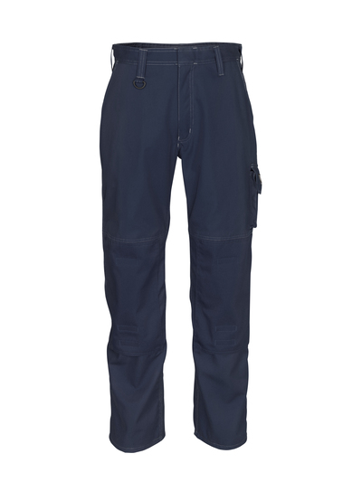 MASCOT® Biloxi - donkermarine - Werkbroek met kniezakken, katoen