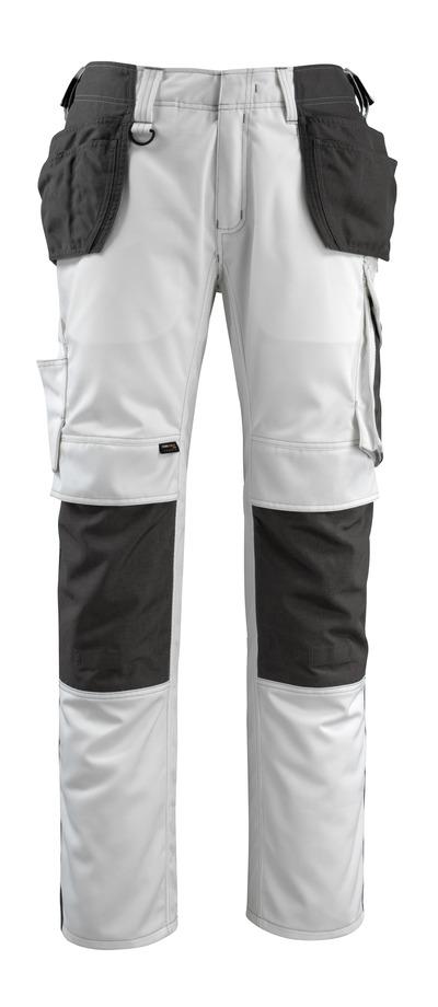 MASCOT® Bremen - wit/donkerantraciet - Werkbroek met CORDURA®-knie- en spijkerzakken, hoge slijtvastheid