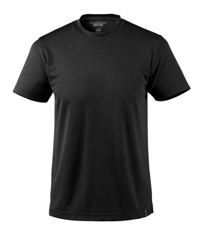 MASCOT® CROSSOVER - zwart - T-shirt, vochtregulerend CoolDry, moderne pasvorm