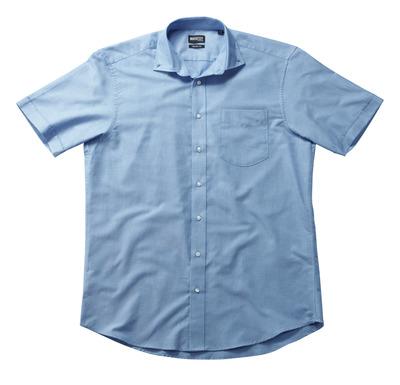 MASCOT® CROSSOVER - lichtblauw - Overhemd, Oxford, ruime pasvorm, korte mouwen.