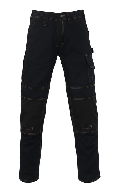 MASCOT® Calvos - zwart - Werkbroek met CORDURA®-kniezakken, hoge slijtvastheid
