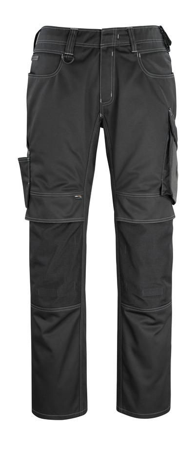 MASCOT® Erlangen - zwart/donkerantraciet - Broek met CORDURA®-kniezakken, hoge slijtvastheid