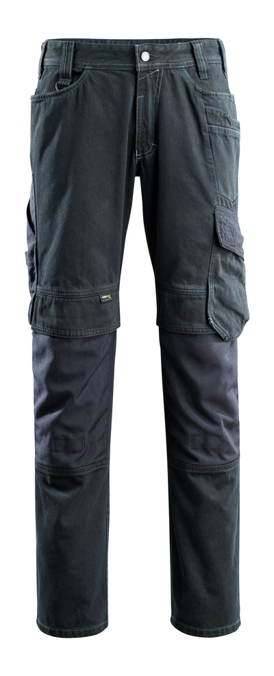 MASCOT® Ferrol - donkerblauw denim - Jeans met kniezakken, extra hoge slijtvastheid