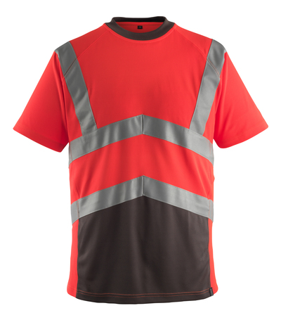 MASCOT® Gandra - hi-vis rood/donkerantraciet* - T-shirt, moderne pasvorm, klasse 2