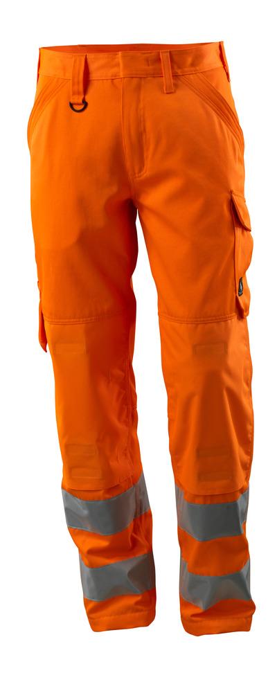MASCOT® Geraldton - hi-vis oranje - Werkbroek met kniezakken, eenkleurig, klasse 2.