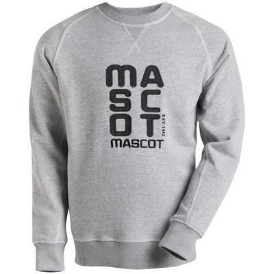 MASCOT® HARDWEAR - grijs-melêe - Sweatshirt geborduurd met MASCOT, moderne pasvorm