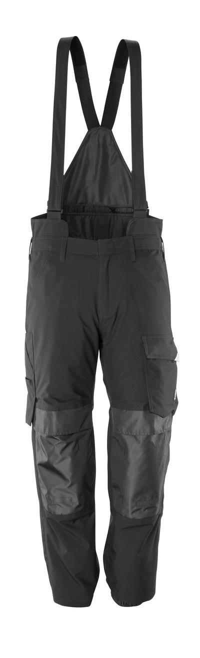 MASCOT® HARDWEAR - zwart - Overtrekbroek met kniezakken, wind- en waterdicht