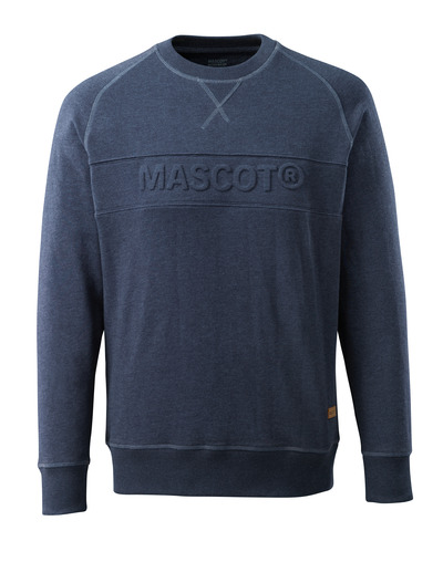 MASCOT® HARDWEAR - gewassen donkerblauw denim* - Sweatshirt met MASCOT in reliëf, moderne pasvorm