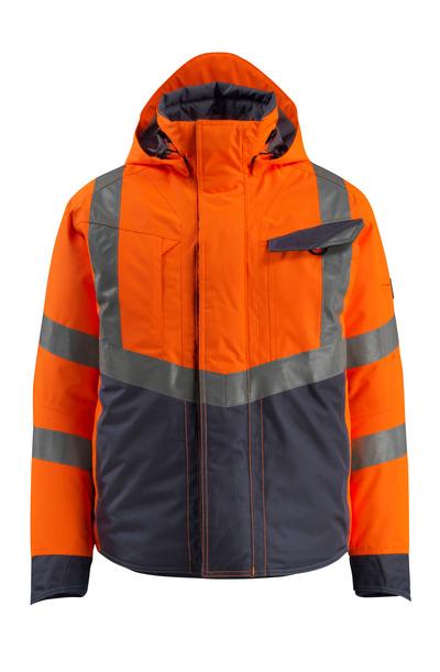 MASCOT® Hastings - hi-vis oranje/donkermarine - Winterjack, gewatteerd, waterdicht, klasse 3