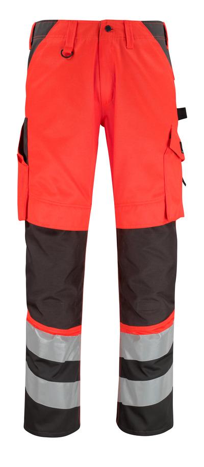 MASCOT® Horta - hi-vis rood/donkerantraciet* - Broek met kniezakken