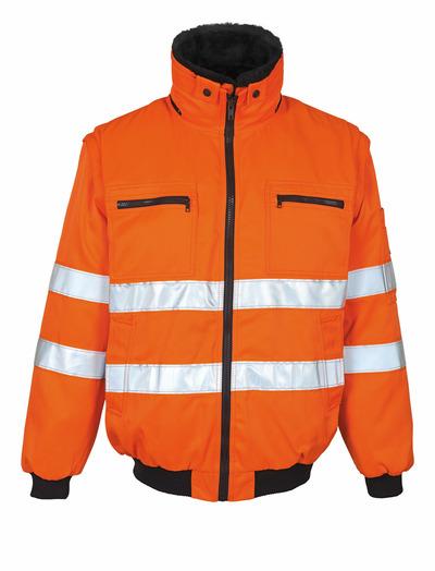 MASCOT® Innsbruck - hi-vis oranje - Pilotenjas met uitneembare bontvoering, waterafstotend, klasse 2