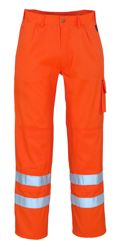 MASCOT® Iowa - hi-vis oranje* - Werkbroek met kniezakken, klasse 1/2