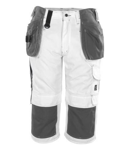 MASCOT® Jaca - wit* - Driekwart broek met knie- en spijkerzakken