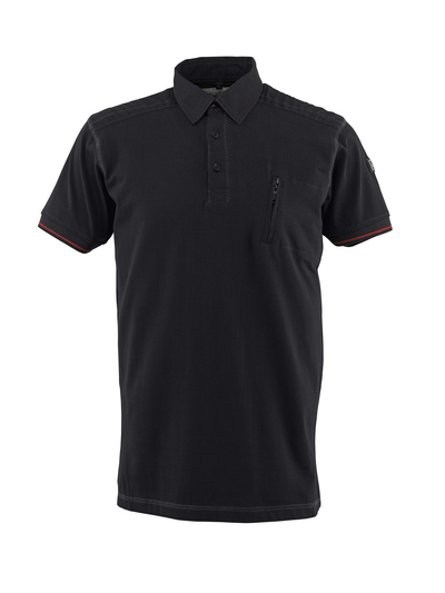 MASCOT® Kreta - zwart - Poloshirt, moderne pasvorm, borstzak