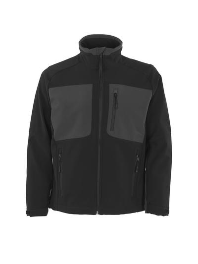 MASCOT® Lagos - zwart/donkerantraciet - Softshelljack met fleece aan de binnenkant, waterafstotend materiaal