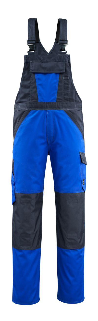 MASCOT® Leeton - korenblauw/donkermarine - Amerikaanse overall met kniezakken, lichtgewicht