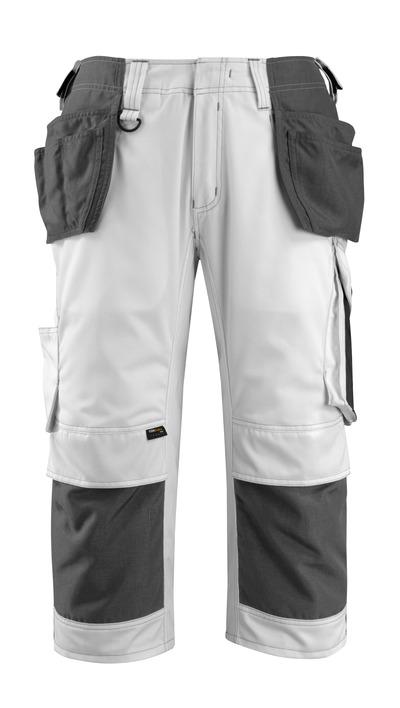 MASCOT® Lindau - wit/donkerantraciet - Driekwart werkbroek met CORDURA®-knie- en spijkerzakken, hoge slijtvastheid
