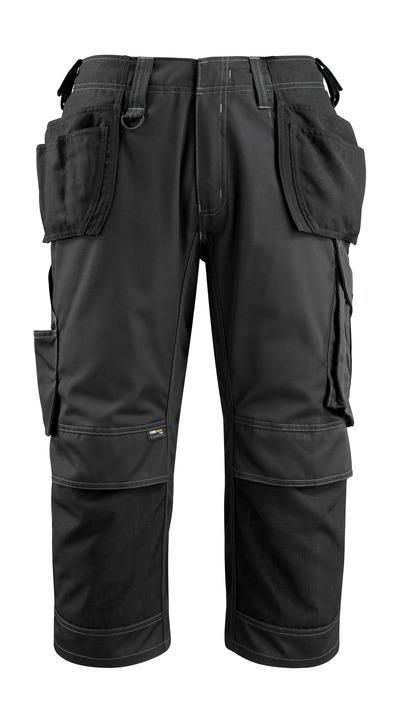 MASCOT® Lindau - zwart - Driekwart werkbroek met CORDURA®-knie- en spijkerzakken, hoge slijtvastheid