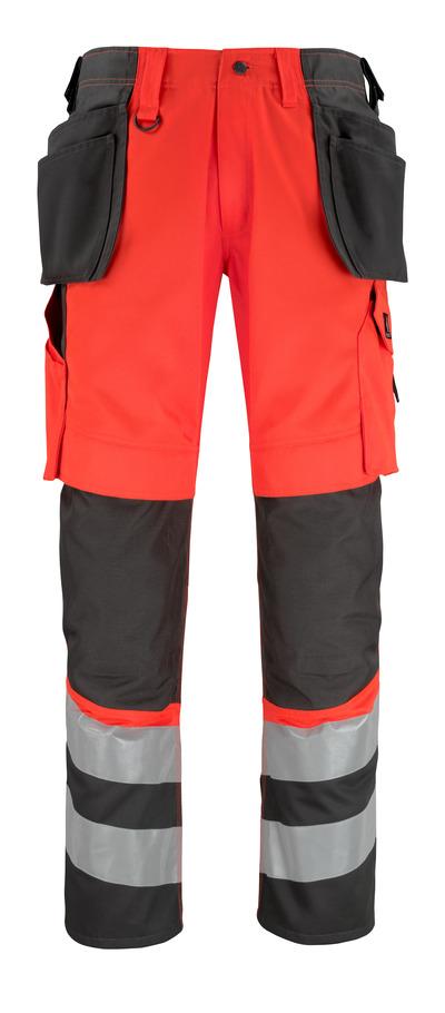 MASCOT® Lixa - hi-vis rood/donkerantraciet* - Broek met knie- en spijkerzakken