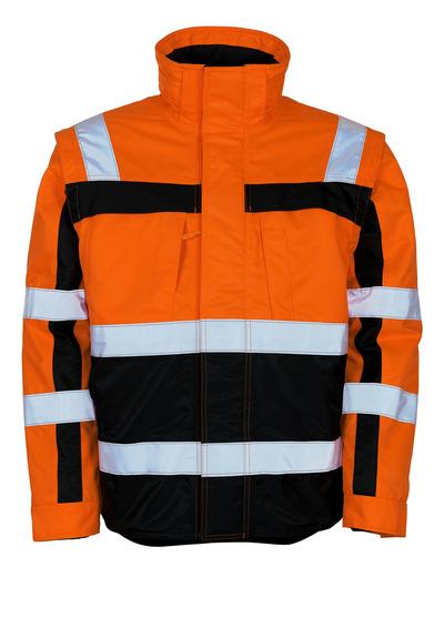 MASCOT® Loreto - hi-vis oranje/marine - Winterjack met uitneembaar thermojack, waterafstotend, klasse 3