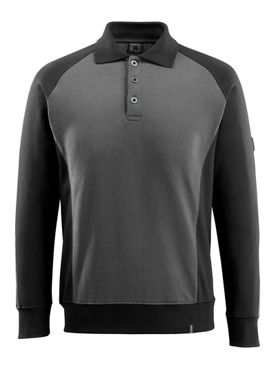 MASCOT® Magdeburg - donkerantraciet/zwart - Polosweatshirt