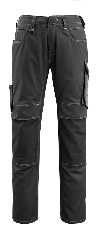 MASCOT® Mannheim - zwart/donkerantraciet - Werkbroek met CORDURA®-kniezakken, lichtgewicht