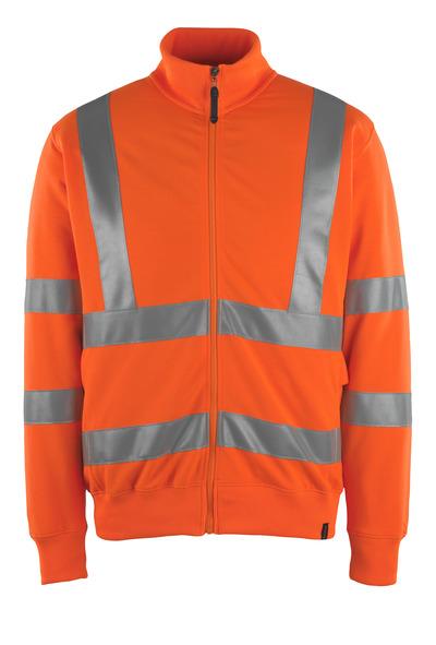 MASCOT® Maringa - hi-vis oranje - Sweatshirt met rits, moderne pasvorm, klasse 3