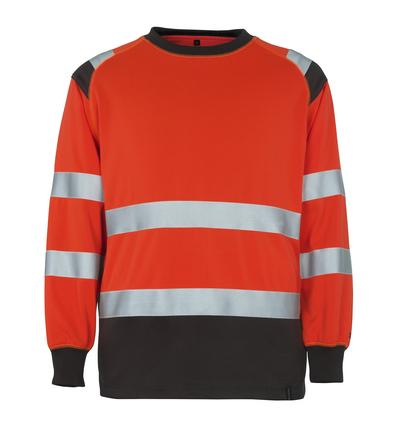 MASCOT® Montijo - hi-vis rood/donkerantraciet* - Sweatshirt, ruime pasvorm, klasse 2