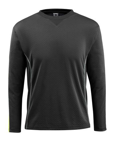 MASCOT® Montilla - zwart/hi-vis geel - T-shirt met lange mouwen, vochtregulerend, moderne pasvorm