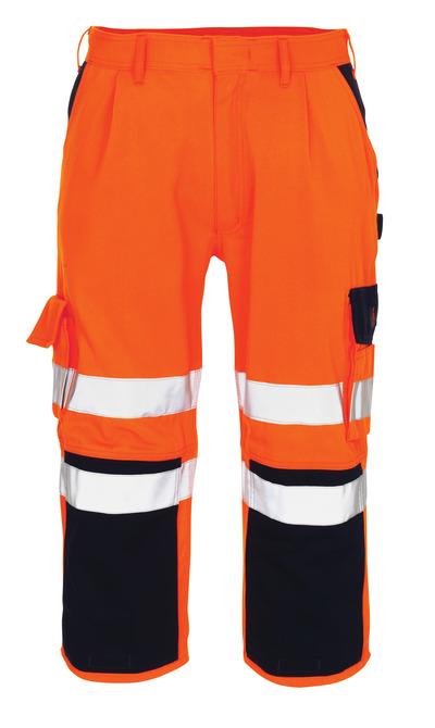 MASCOT® Natal - hi-vis oranje/marine* - Driekwart broek met kniezakken
