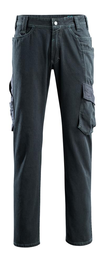 MASCOT® Navia - donkerblauw denim - Jeans met dijbeenzakken extra hoge slijtvastheid
