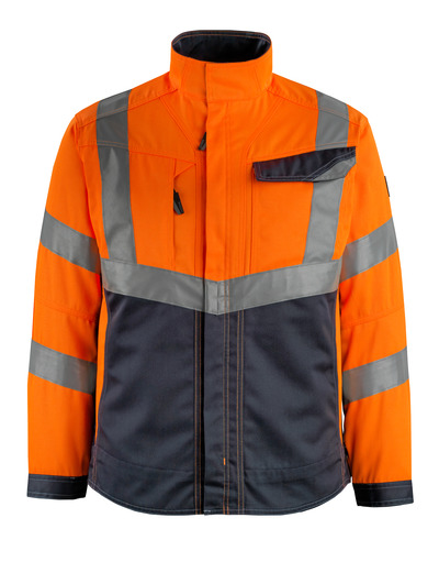 MASCOT® Oxford - hi-vis oranje/donkermarine - Jack, hoge slijtvastheid, klasse 2
