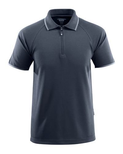 MASCOT® Palamos - donkermarine - Poloshirt met rits, met temperatuurregulerend TENCEL®