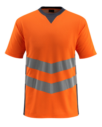 MASCOT® Sandwell - hi-vis oranje/donkermarine - T-shirt, moderne pasvorm, klasse 2