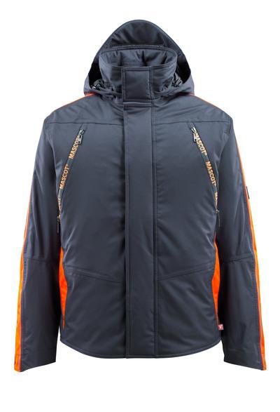 MASCOT® Tolosa - donkermarine/hi-vis oranje - Winterjack met Hi-Vis-contrast, waterdicht, hoog isolerend vermogen