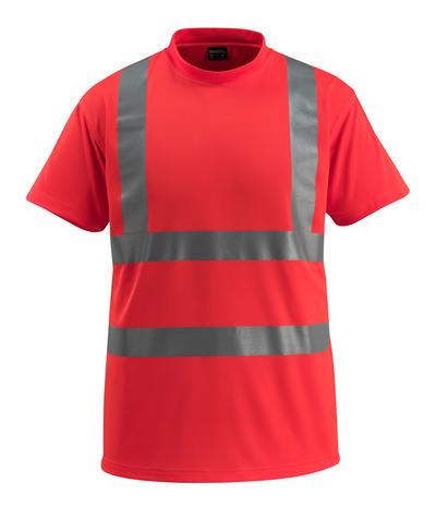 MASCOT® Townsville - hi-vis rood - T-shirt, ruime pasvorm, klasse 2