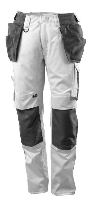 MASCOT® UNIQUE - wit/donkerantraciet - Werkbroek met CORDURA®-knie- en spijkerzakken, lichtgewicht