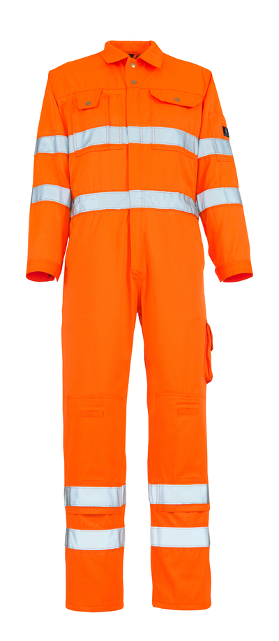 MASCOT® Utah - hi-vis oranje - Overall met kniezakken, klasse 3