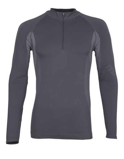 MASCOT® Valongo - donkerantraciet - Functioneel hemd met korte rits, lichtgewicht, vochtregulerend