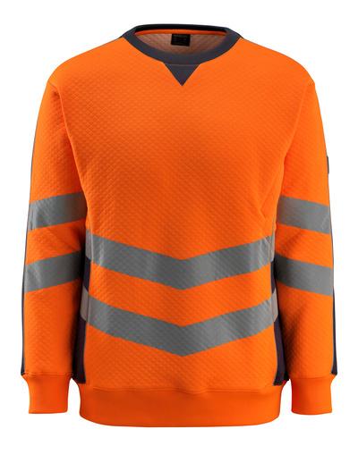 MASCOT® Wigton - hi-vis oranje/donkermarine - Sweatshirt, moderne pasvorm, klasse 3