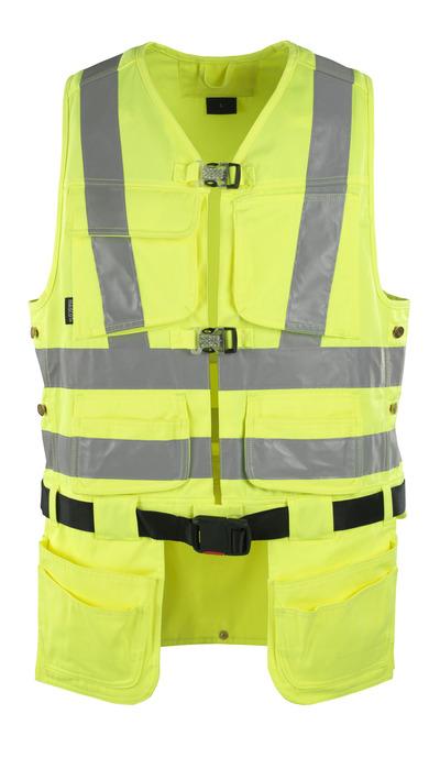 MASCOT® Yorkton - hi-vis geel - Gereedschapsvest met vier spijkerzakken, klasse 2/2